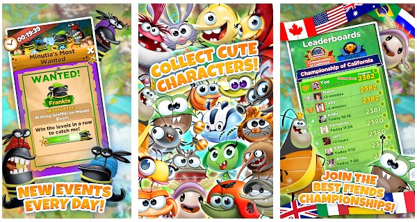 Best Fiends Characters List