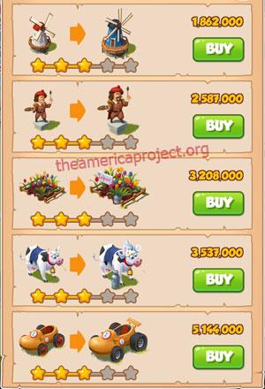 Coin Master Village 16: Netherland 4 Stars Price List
