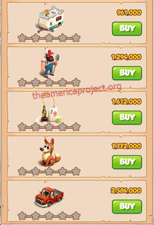 Coin Master Village 21: Apocalypse 1 Star Price List