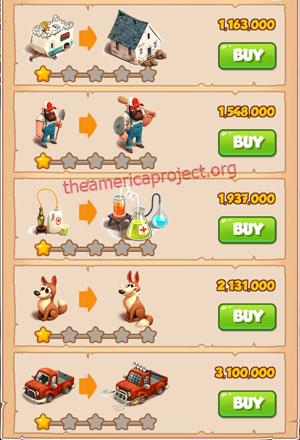 Coin Master Village 21: Apocalypse 2 Stars Price List