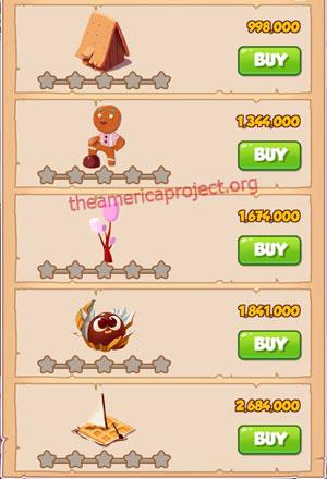 Coin Master Village 22: Candy Land 1 Star Price List