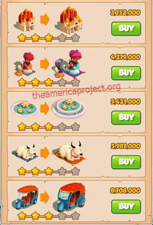 Coin Master Village 30: India 4 Stars Price List