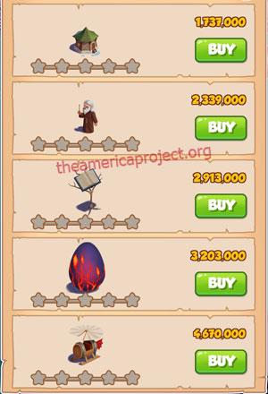 Coin Master Village 37: The Wizard 1 Star Price List