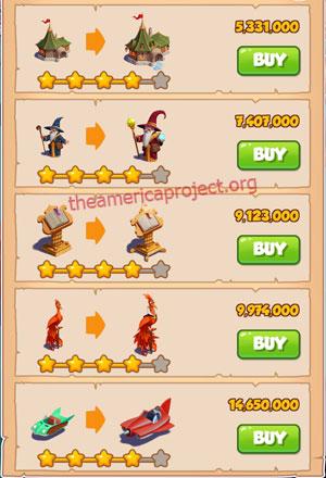 Coin Master Village 37: The Wizard 5 Stars Price List