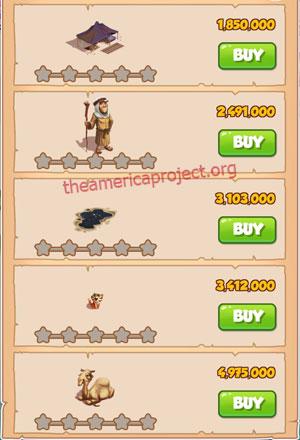 Coin Master Village 38: Oil Tyrant 1 Star Price List