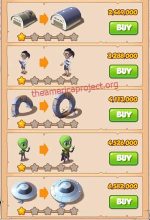 Coin Master Village 40: Area 51 2 Stars Price List