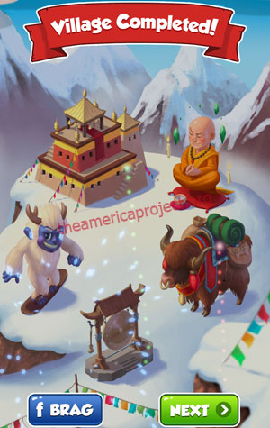 Coin Master Village 48: Tibet Completed