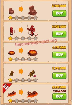 Coin Master Village 48: Tibet 2 Stars Price List