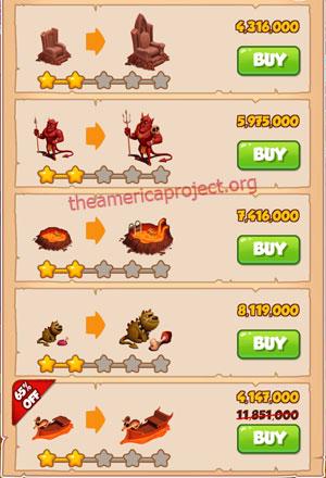 Coin Master Village 48: Tibet 3 Stars Price List