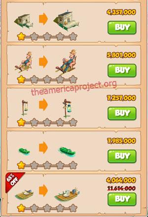 Coin Master Village 52: Swamp 2 Stars Price List
