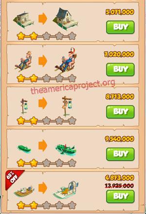 Coin Master Village 52: Swamp 3 Stars Price List