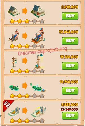Coin Master Village 52: Swamp 4 Stars Price List