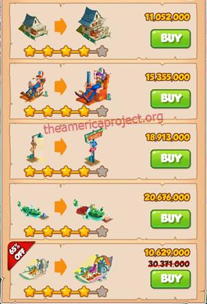 Coin Master Village 52: Swamp 5 Stars Price List