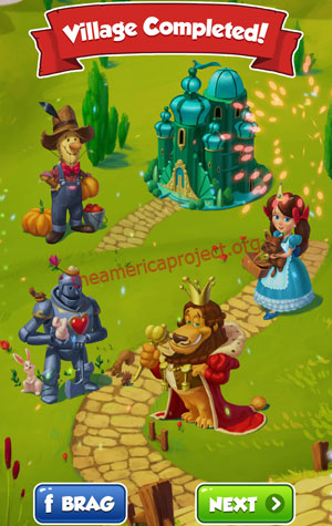 Coin Master Village 53: Wizard of Oz Completed