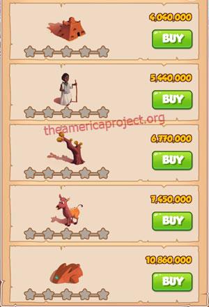 Coin Master Village 54: Timbuktu 1 Star Price List