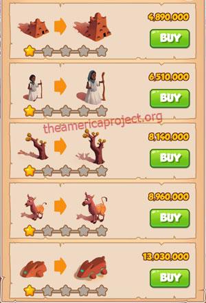 Coin Master Village 54: Timbuktu 2 Stars Price List