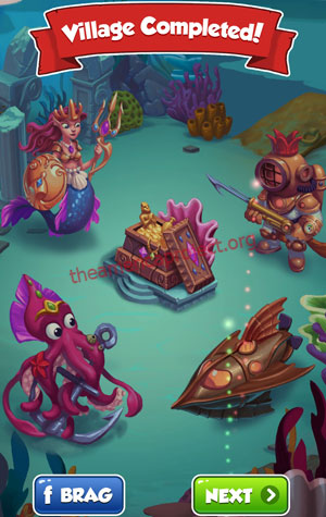 Coin Master Village 61: Deep Sea Completed
