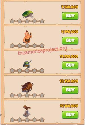 Coin Master Village 66: Trolls 1 Star Price List
