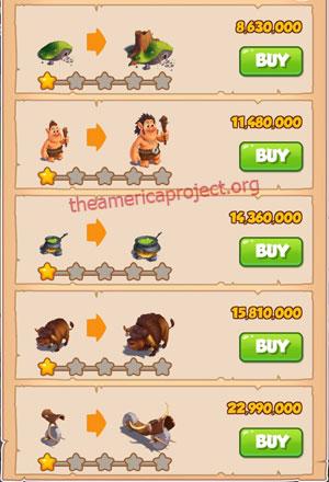 Coin Master Village 66: Trolls 2 Stars Price List