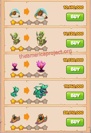 Coin Master Village 67: Aliens 3 Stars Price List