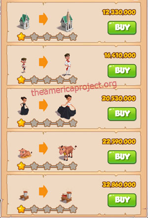Coin Master Village 73: Spain 2 Stars Price List