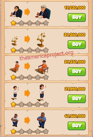 Coin Master Village 78: Courthouse 2 Stars Price List