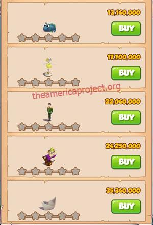 Coin Master Village 79: Tin Soldier 1 Star Price List