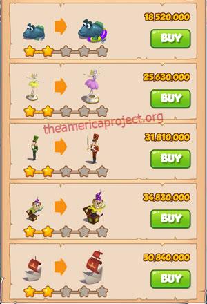 Coin Master Village 79: Tin Soldier 3 Stars Price List