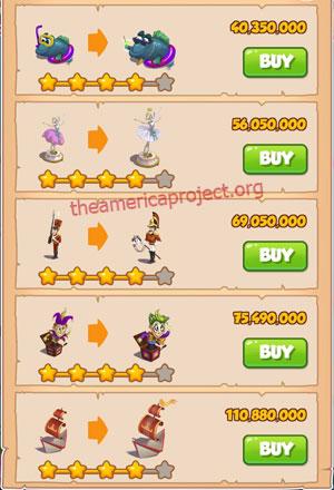 Coin Master Village 79: Tin Soldier 5 Stars Price List