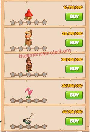 Coin Master Village 84: Gnome 1 Star Price List