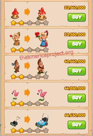 Coin Master Village 84: Gnome 3 Stars Price List