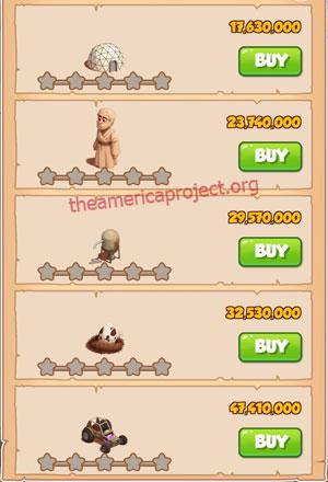 Coin Master Village 85: Desert Punk 1 Star Price List