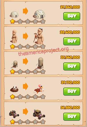 Coin Master Village 85: Desert Punk 2 Stars Price List