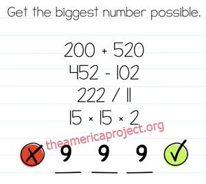 Brain Test Level 42 Answer